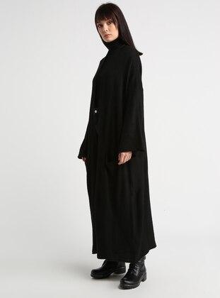 Black - Cotton - Acrylic -  - Cardigan