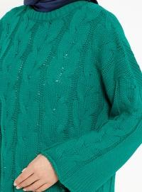Green - Crew neck - Acrylic -  - Tunic