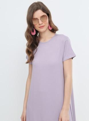 e2aa93b102343 Lila Tesettür Elbise Modelleri ve Fiyatları - Modanisa.com