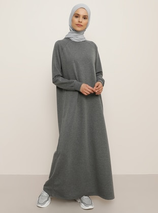 Anthracite - Crew neck - Unlined - Dresses