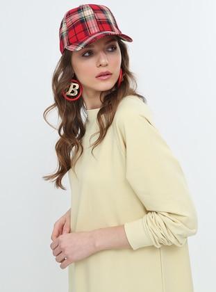 6d53815196432 Düz Renk Spor Elbise - Açık Sarı · Everyday Basic