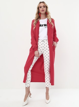 Red - Unlined - Topcoat