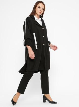 f39ec5a434d4b Black - Shawl Collar - Unlined - Plus Size Jacket