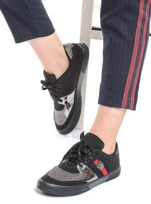 Black – Silver Tone – Sport – Sports Shoes – Shoestime