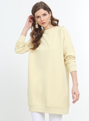 Yellow - Crew neck - Tunic