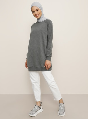 Anthracite - Crew neck - Tunic