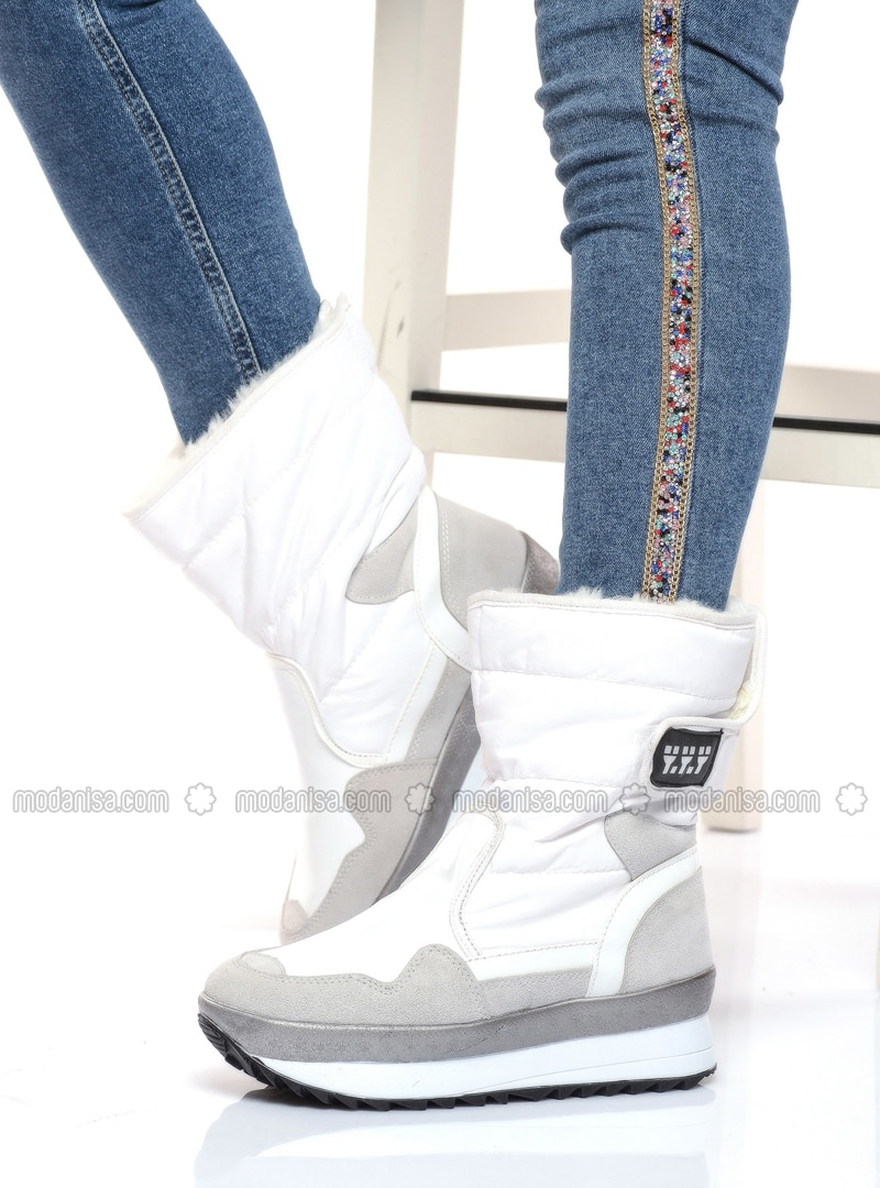 White - Boot - Boots