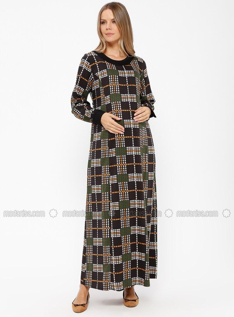 e8de2e02836e6 ... Crew neck - Unlined - Maternity Dress. Fotoğrafı büyütmek için tıklayın