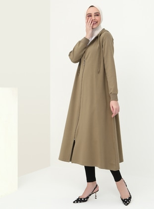 Khaki - Unlined - Cotton - Topcoat
