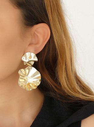 Takıştır Bijuteri Özel Tasarım Küpe - Altın