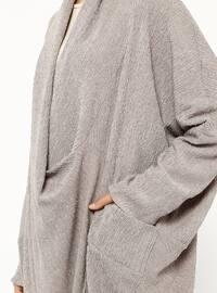 Minc - V neck Collar - Unlined - Abaya