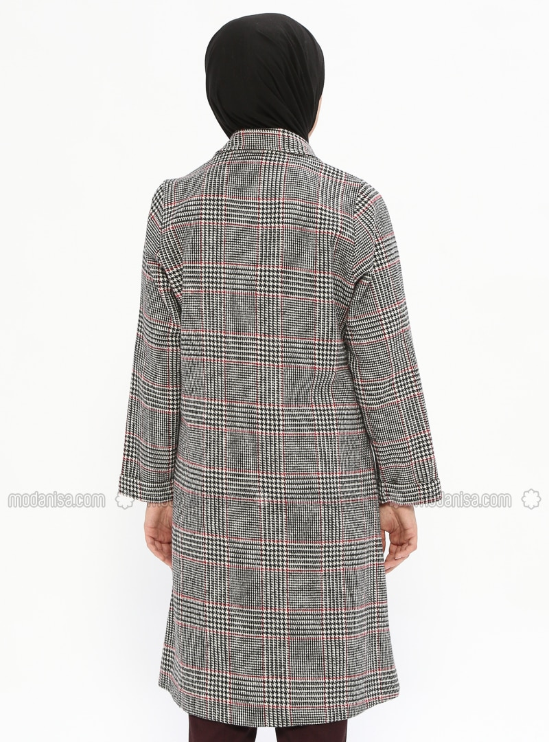 Mantel hahnentritt rot