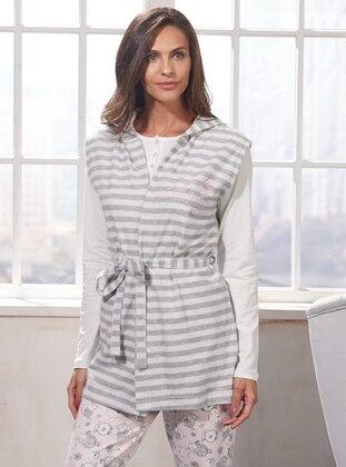 Gray - Stripe - Vest