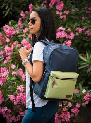 Green - Navy Blue - Backpacks