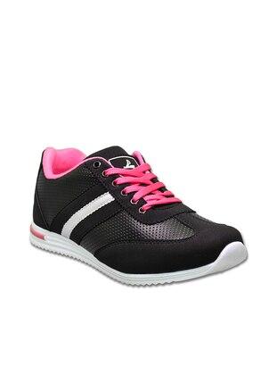 Spor Ayakkabı - Siyah Fuşya - Pasomia Ürün Resmi
