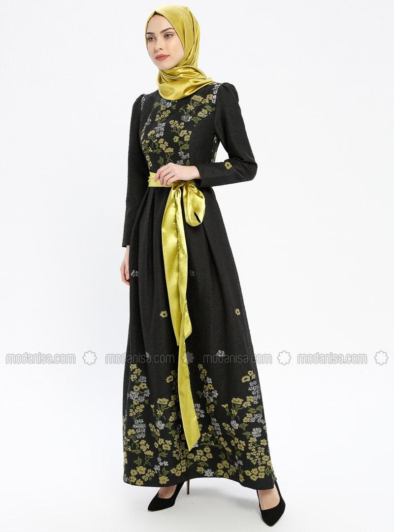 71f940b22d756 Jakarlı Abiye Elbise - Fıstık Yeşili - Miss Glamour