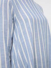 Blue - White - Stripe - Crew neck - Tunic