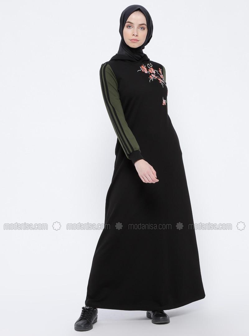Black - Khaki - Unlined - Dresses