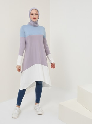 Indigo - Crew neck - Viscose - Tunic