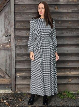 Black - Houndstooth - Dresses