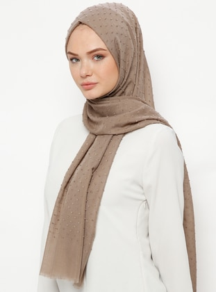 Brown - Plain - Cotton - Shawl