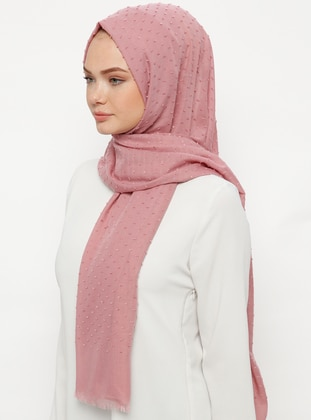 Pink - Plain - Cotton - Shawl