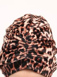 Brown - Leopard - Instant Scarf