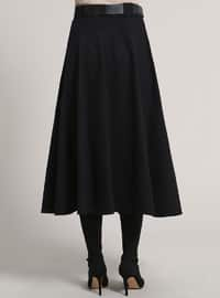 Black - Unlined - Acrylic - Skirt