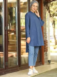 Indigo - Polo neck - Tunic