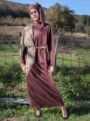 Brown - Unlined - Cotton - Suit