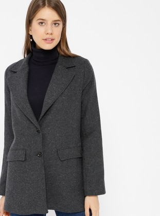 Anthracite - Fully Lined - Shawl Collar - Jacket