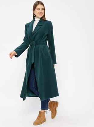 Petrol - Fully Lined - Shawl Collar - Coat