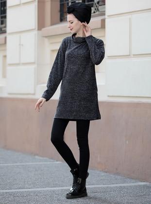 Black - Acrylic - Tunic