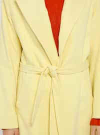 Yellow - Fully Lined - Shawl Collar - Coat