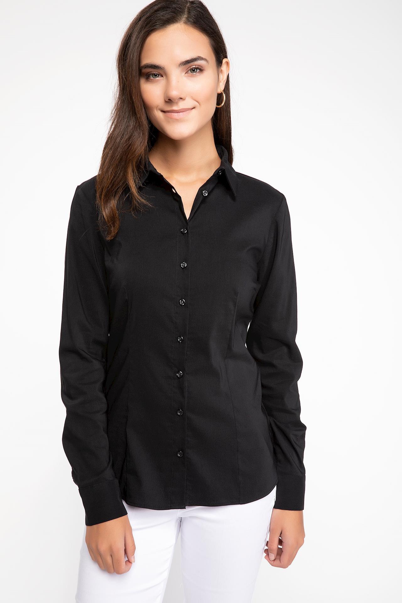 Tesettür Bluz Gömlek DeFacto Siyah Kadın 48