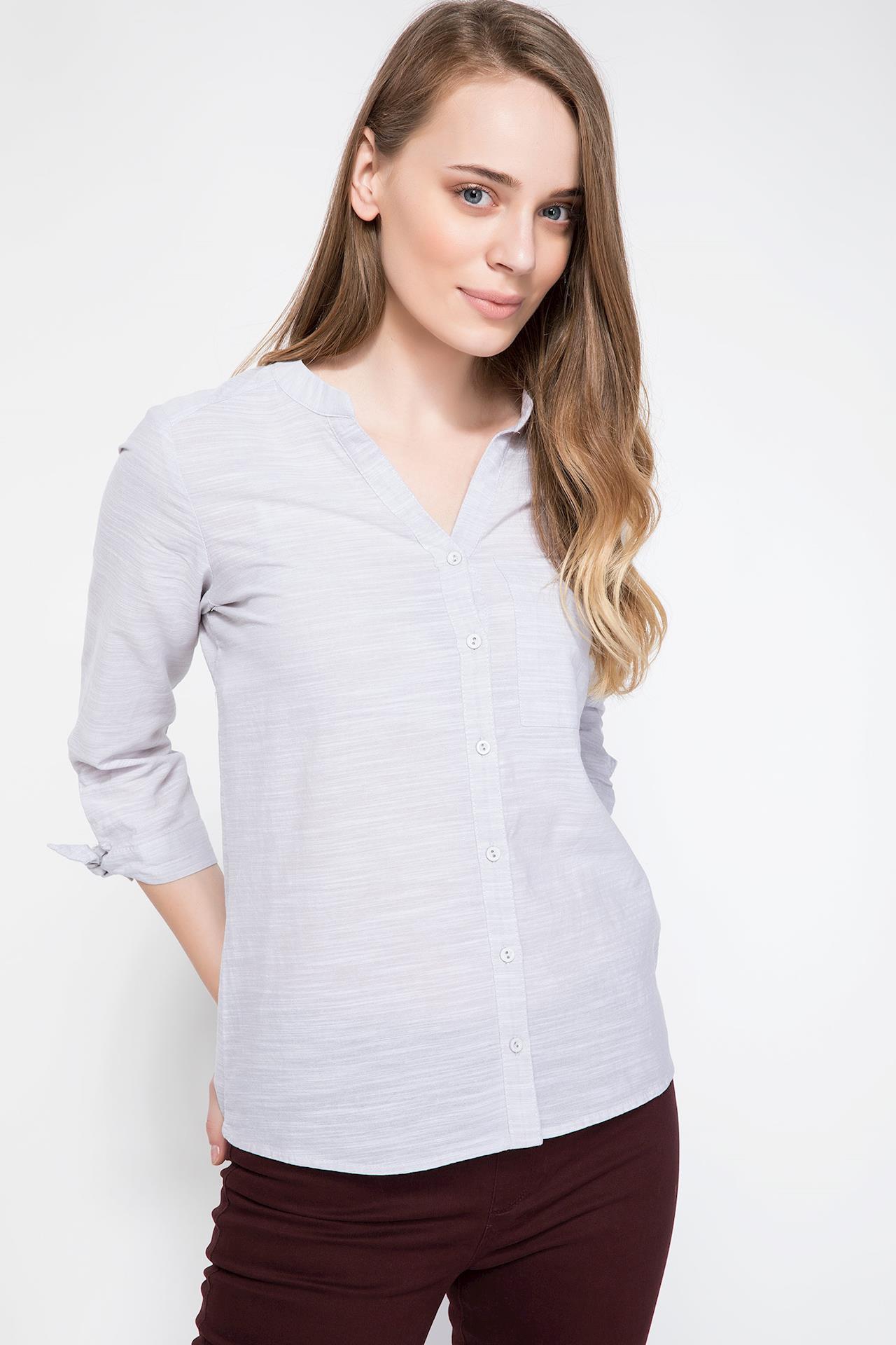 Tesettür Bluz Gömlek DeFacto Gri Kadın 42