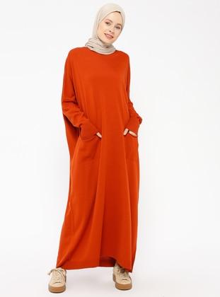 Terra Cotta - Crew neck - Unlined -  - Dresses