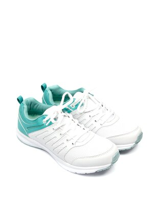 Green - White - Sport - Shoes
