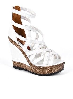 Sandalet - Beyaz - 801 - Sapin Ürün Resmi