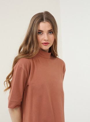 Salmon - Polo neck - Tunic