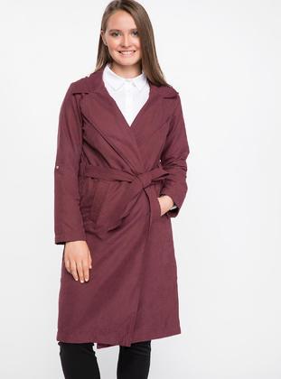 Maroon - Trench Coat
