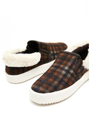 Spor Ayakkabı - Kahverengi - Koton Ürün Resmi
