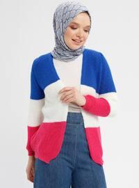 Blue - Pink - Saxe - Fuchsia - Cardigan