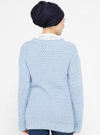 Blue - Crew neck -  - Tunic