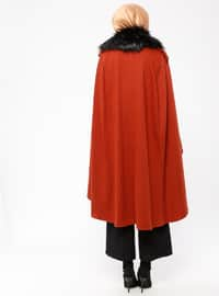 Terra Cotta - Point Collar - Unlined - Poncho