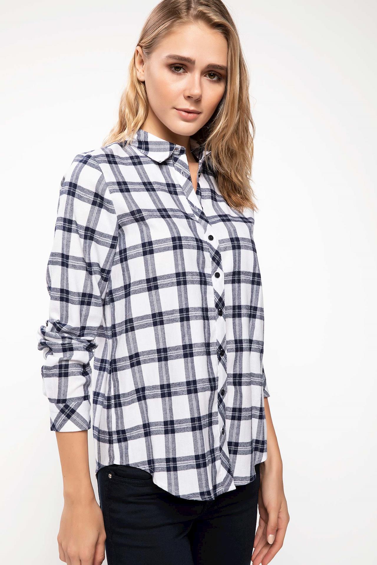 Tesettür Bluz Gömlek DeFacto Lacivert Kadın 46