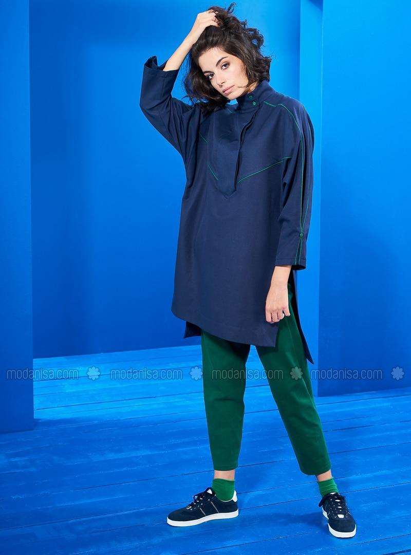 Green - Navy Blue - Tunic