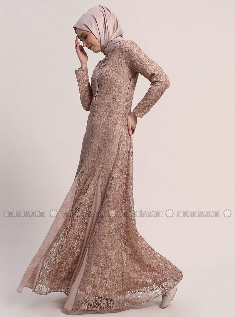 Minc - Fully Lined - Crew neck - Muslim Evening Dress