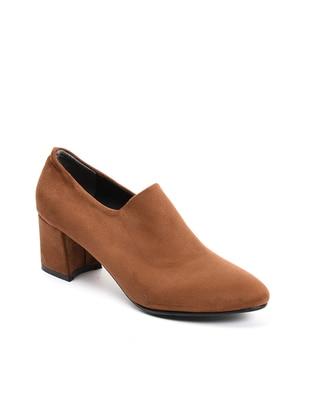 Topuklu Ayakkabı - Taba suet - 103 - Sapin Ürün Resmi