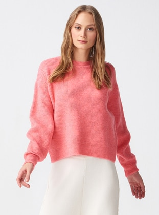 Salmon - Crew neck -  - Jumper - Dilvin